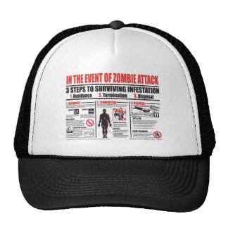 In The Event of Zombie Attack BASEBALL CAP Trucker Hat