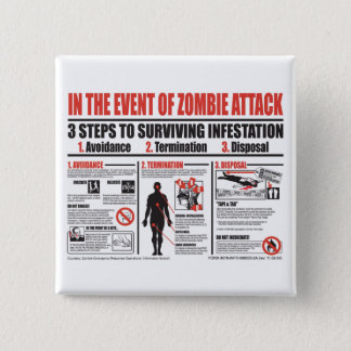 In The Event of Zombie Attack BUTTON