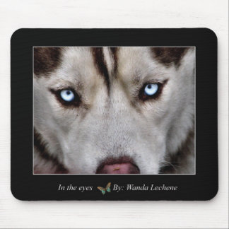 In the eyes mouse pad