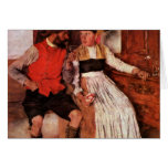 In The Farmhouse Parlor By Leibl Wilhelm Greeting Card