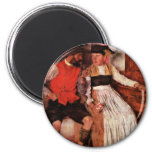 In The Farmhouse Parlor By Leibl Wilhelm Fridge Magnet
