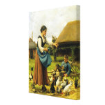 In the Farmyard ~ Julien Dupré Stretched Canvas Prints