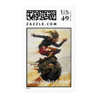 """""""In the Fast Lane"""" Postage Stamp"""