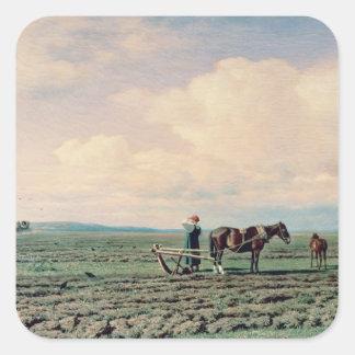 In the Field, 1872 Square Sticker