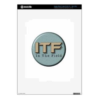In The Field logo iPad 3 Decal