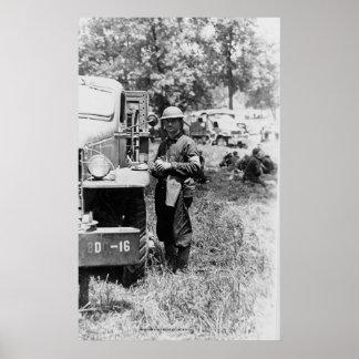 In the Field, World War II Poster