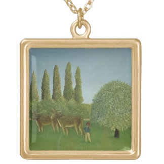 In the Fields, 1910 Gold Plated Necklace