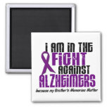 In The Fight Against Alzheimer's Disease BROTHER Fridge Magnets