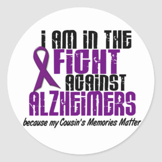 In The Fight Against Alzheimer's Disease COUSIN Classic Round Sticker