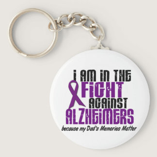 In The Fight Against Alzheimer's Disease DAD Keychain