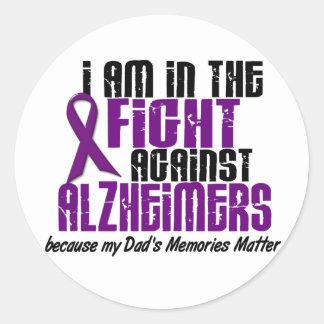 In The Fight Against Alzheimer's Disease DAD Sticker