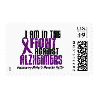 In The Fight Against Alzheimer's Disease MOTHER Postage Stamp