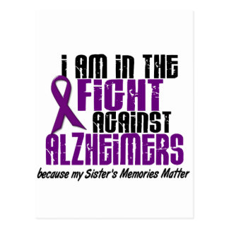 In The Fight Against Alzheimer's Disease SISTER Postcard