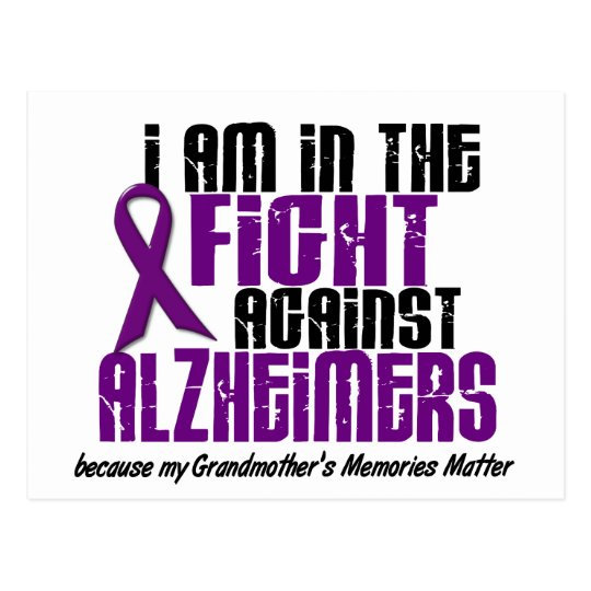 In The Fight Against Alzheimer's GRANDMOTHER Postcard