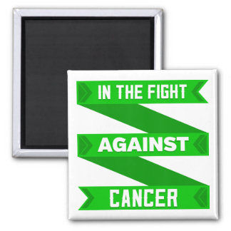 In The Fight Against Bile Duct Cancer 2 Inch Square Magnet