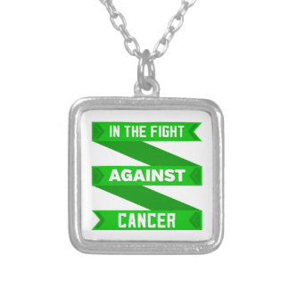 In The Fight Against Bile Duct Cancer Silver Plated Necklace