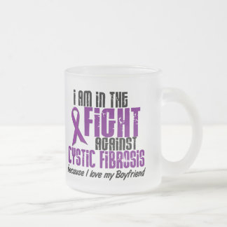 In The Fight Against Cystic Fibrosis BOYFRIEND 10 Oz Frosted Glass Coffee Mug