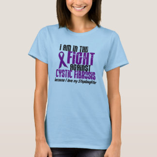 In The Fight Against Cystic Fibrosis DISTRESSED T-Shirt