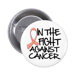 In The Fight Against Endometrial Cancer Pinback Buttons