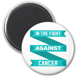 In The Fight Against Gynecologic Cancer 2 Inch Round Magnet