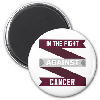 In The Fight Against Head and Neck Cancer 2 Inch Round Magnet