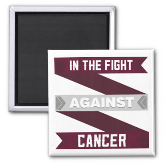 In The Fight Against Head and Neck Cancer 2 Inch Square Magnet