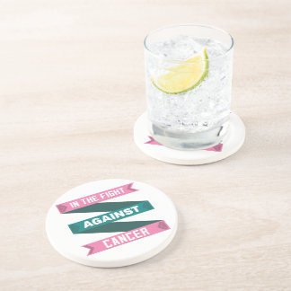 In The Fight Against Hereditary Breast Cancer Drink Coaster