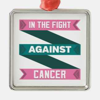 In The Fight Against Hereditary Breast Cancer Metal Ornament