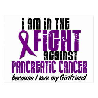 In The Fight Against Pancreatic Cancer GIRLFRIEND Postcard