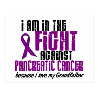 In The Fight Against Pancreatic Cancer GRANDFATHER Postcard