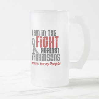 In The Fight Against Parkinson's Disease DAUGHTER 16 Oz Frosted Glass Beer Mug