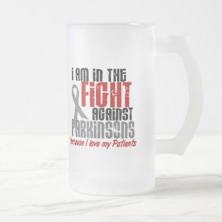 In The Fight Against Parkinson's Disease PATIENTS 16 Oz Frosted Glass Beer Mug