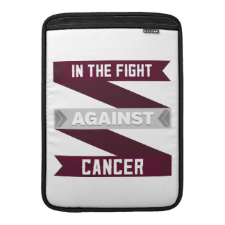 In The Fight Against Throat Cancer MacBook Sleeves