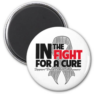 In The Fight For a Cure - Brain Cancer 2 Inch Round Magnet
