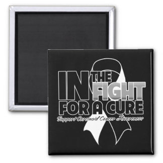 In The Fight For a Cure - Carcinoid Cancer 2 Inch Square Magnet