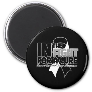 In The Fight For a Cure - Carcinoid Cancer 2 Inch Round Magnet