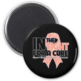 In The Fight For a Cure - Endometrial Cancer 2 Inch Round Magnet