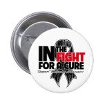 In The Fight For a Cure - Melanoma Button