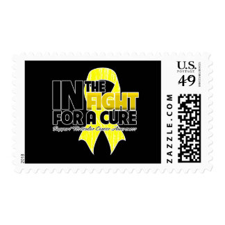 In The Fight For a Cure - Testicular Cancer Postage Stamp