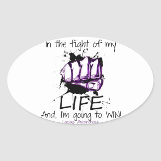 In the Fight of my Life... Oval Sticker