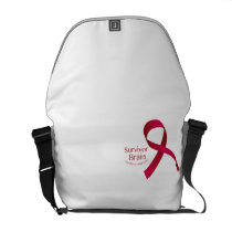 In The Fight To Win Against Brain Aneurysm Aware Courier Bag