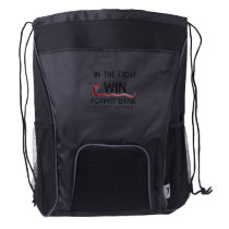 In The Fight To Win Against Brain Aneurysm Aware Drawstring Backpack