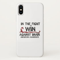 In The Fight To Win Against Brain Aneurysm Aware iPhone X Case