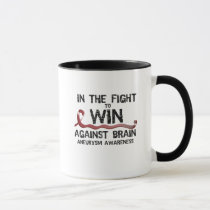 In The Fight To Win Against Brain Aneurysm Aware Mug