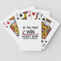 In The Fight To Win Against Brain Aneurysm Aware Playing Cards