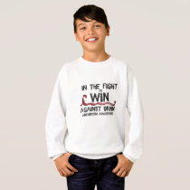 In The Fight To Win Against Brain Aneurysm Aware Sweatshirt