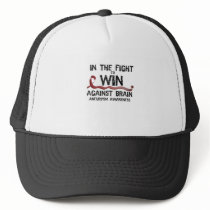 In The Fight To Win Against Brain Aneurysm Aware Trucker Hat