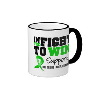 In The Fight To Win - Bone Marrow Transplant Ringer Coffee Mug