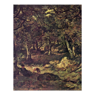 In the forest by Diaz de la Pena,Narcisse Virgile Poster