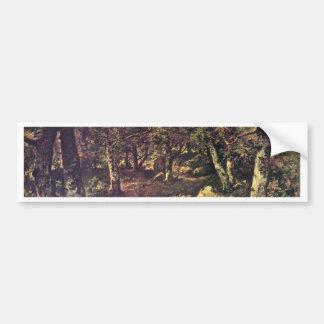 In The Forest By Diaz De La Peña Virgile-Narcisse Bumper Sticker